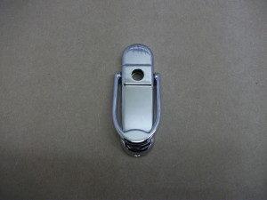 Affinity Door Knocker with Spyhole Chrome