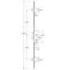 Fullex SL16 Original Latch, Central Deadbolt and 2 Deadbolts, Split spindle (S/S) or Lift lever (L/L)
