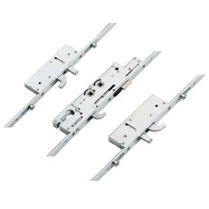 Fullex XL Latch, Central Hook, 2 Hooks, 2 Anti Lift Pins and 4 rollers, Double spindle (D/S) or Lift lever (L/L)
