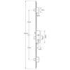 Gridlock C Series Latch, Central Deadbolt and 2 Deadbolts, Lift lever (L/L) 45mm Single Spindle