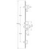 35mm GU Latch, Central Deadbolt and 2 Deadbolts Narrow Version, Lift lever (L/L) - 1228mm between deadbolts