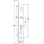 Universal Lock 20mm Backset